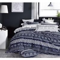 Lenjerie de pat Caressa F206143, 2 persoane, bumbac satinat 100 %, imprimeu, 4 piese