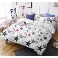 Lenjerie de pat Caressa 75A2313, 2 persoane, microfibra 100 %, imprimeu, 4 piese