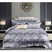 Lenjerie de pat Caressa OL-QZ, 2 persoane, microfibra 100 %, imprimeu, 4 piese