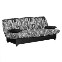 Husa Manhattan pentru canapea Click-Clack, poliester negru