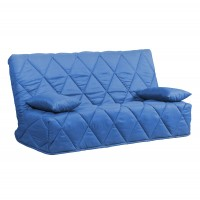 Husa Banu pentru canapea Click-Clack, poliester albastru
