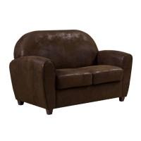 Canapea fixa 2 locuri Gabi, maro, 118 x 80 x 84 cm, 1C