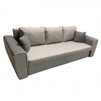 Canapea extensibila 3 locuri Nera, cu lada, bej, 240 x 88 x 86 cm, 2C