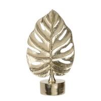 Decoratiune frunza, Koopman APF473820, rasina, auriu, H 30 cm