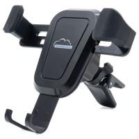 Suport auto pentru telefon SilverCloud Easy Drive 25, universal, cu prindere in grila de ventilatie, negru