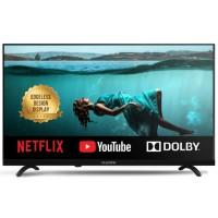 Televizor LED Smart Allview 32ATS5500-H-N, diagonala 81 cm, HD, sistem operare Netflix 5.0 Smart Solution, negru