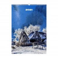 Calendar de perete 2021, Arhi Design, carton lucios, format A3, 7 coli, modele diferite