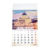 Calendar de perete 2021, Arhi Design, carton lucios, format A3, policromie vintage, 12 coli
