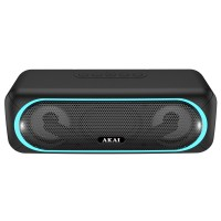Boxa portabila activa Akai ABTS-141, 5.8 W, Bluetooth, USB, micro SD card slot, Aux in, functie True Wireless Sound, neagra
