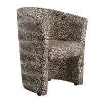 Fotoliu fix Catalin, PVC, model leopard
