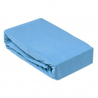 Husa saltea Home Still, bumbac jersey, albastra,160 x 200 cm