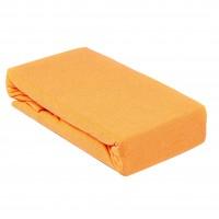 Husa saltea Home Still, bumbac jersey, orange,160 x 200 cm