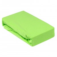 Husa saltea Home Still, bumbac jersey, verde,160 x 200 cm