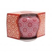 Lumanare in pahar decorativ, Aroma Land, mar + scortisoara, 85 g
