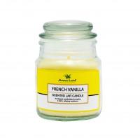 Lumanare decorativa Aroma Land, borcan sticla cu capac, vanilie, 85 g