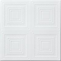 Tavan fals decorativ, polistiren extrudat, VTM 0867, modern, alb, 50 x 50 x 0.35 cm