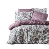 Lenjerie de pat Caressa Jeremy, 2 persoane, bumbac satinat 100 %, roz pudra, 4 piese