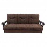 Canapea extensibila 3 locuri Laura, cu lada, maro inchis, 215 x 85 x 83 cm, 1C