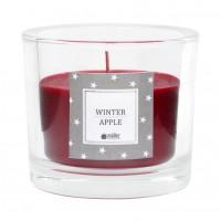 Lumanare decorativa de Craciun, Muller Kerzen, tip pahar, arome mar + scortisoara, rosu, timp de ardere 22 h