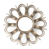 Oglinda decorativa 6060-1, forma floare, 50 x 50 x 2.5 cm