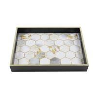 Tava dreptunghiulara pentru servire, din MDF, JX2021S, 35 x 25 x 5 cm