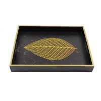 Tava dreptunghiulara pentru servire, din MDF, JX2032L, 40 x 30 x 5 cm