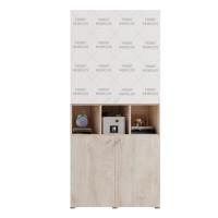 Carcasa etajera camera tineret Marvin, cu 2 usi, stejar grano, 100 x 205 x 37 cm, 2C