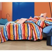 Lenjerie de pat Caressa BX227 121, 2 persoane, bumbac satinat 100 %, multicolor, 4 piese
