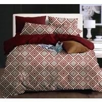 Lenjerie de pat Caressa 75A2284 121, 2 persoane, microfibra, multicolor, 4 piese