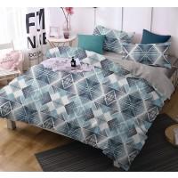 Lenjerie de pat Caressa 75A2297 121, 2 persoane, microfibra, multicolor, 4 piese