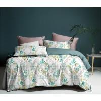Lenjerie de pat Caressa KAZ 121, 2 persoane, microfibra, multicolor, 4 piese
