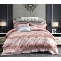 Lenjerie de pat Caressa OUN 121, 2 persoane, microfibra, multicolor, 4 piese