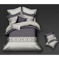 Lenjerie de pat Caressa YY 121, 2 persoane, microfibra, multicolor, 4 piese