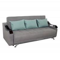 Canapea extensibila 3 locuri Florina, cu lada, gri deschis, 225 x 105 x 99 cm, 2C