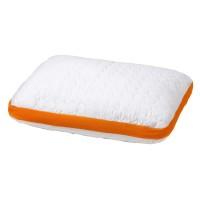 Perna pentru dormit Caressa 3D Air Mesh, matlasata, banda orange, 50 x 70 cm