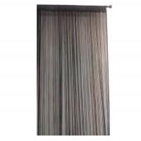Perdea de ata, SN Deco, fir poliester, negru, 300 x 270 cm