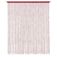 Perdea de ata, SN Deco, fir poliester, rosu, 300 x 270 cm