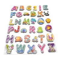 Sticker decor educativ, D3309, camera copii, alfabet, multicolor, 32 x 52 cm