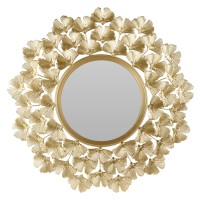 Oglinda decorativa Koopman, HZ2002460, rama metalica, auriu, 52.5 cm
