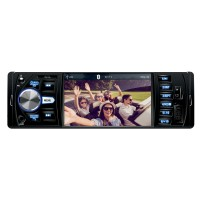 Radio MP3 player auto cu player multimedia SAL VB X200, 4 x 50 W, 1 DIN, Bluetooth, USB, microSD card reader, Aux in, ecran TFT LCD multifunctional 4.1 inch, egalizator, microfon inglobat si extern cu clema, telecomanda