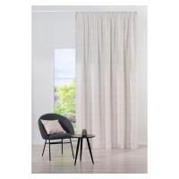 Draperie Mendola Fabrics, model Nympha, Jade, jacquard, crem, semiopac, 280 cm