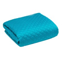 Cuvertura pentru pat Dublu Trafic, 100 % poliester, turcoaz, 200 x 220 cm