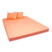Husa saltea Home Still, bumbac jersey, orange, 160 x 200 cm, set 3 piese