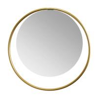 Oglinda decorativa, rama metalica, auriu, 37 x 1 cm