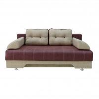 Canapea extensibila 3 locuri Eliza, cu lada, mov + crem, 190 x 98 x 75 cm, 1C