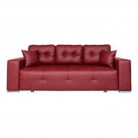 Canapea extensibila 3 locuri Optimus, cu lada, bordo, 242 x 100 x 88 cm, 3C