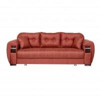 Canapea extensibila 3 locuri Orbay, cu lada, caramiziu, 250 x 95 x 91 cm, 3C