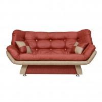 Canapea extensibila 3 locuri Lale, caramiziu + bej, 182 x 95 x 85 cm, 1C