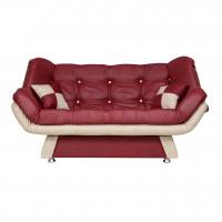 Canapea extensibila 3 locuri Lale, bordo + crem, 182 x 95 x 85 cm, 1C