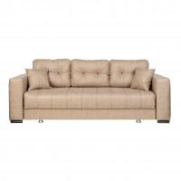 Canapea extensibila 3 locuri Leon, cu lada, bej, 240 x 100 x 80 cm, 3C